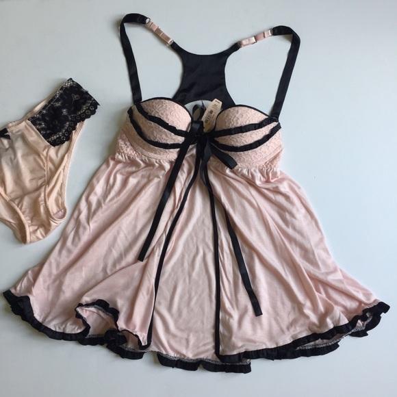 96cf943640 Sexy Little Things Babydoll Padded Blush Pink 34B